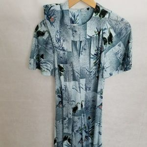 Women's 1970s Floral Dress